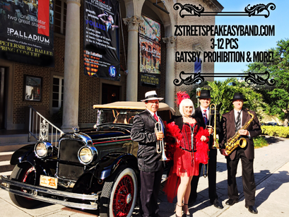 Gatsby Band, 20s Band, 20's Band, Swing Band, Big Band, Prohibition Band, Jazz Band, Orlando, Florida, United States, Tampa, Sarasota, Saint Petersburg, Palm Beach, Miami, Boca Raton, Fort Lauderdale, St. Augustine, Naples, Bradenton, Sun City,